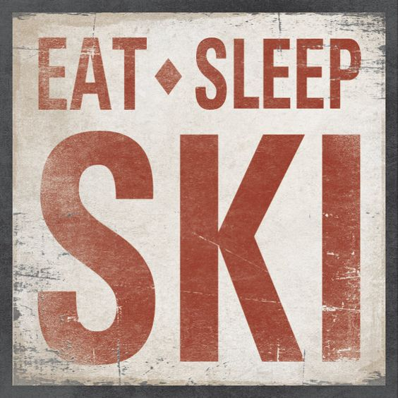 eat sleep ski caption