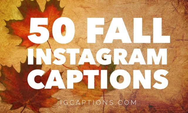 50+ Fall Instagram Captions - 2018's Best Captions